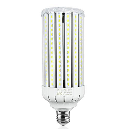 LuxVista E40 LED Mais Licht 100W 220V Kaltweiß 6000K 10000 Lumen 295MM Maisbirne (1-Stück, den Ballast entfernen/umgehen)
