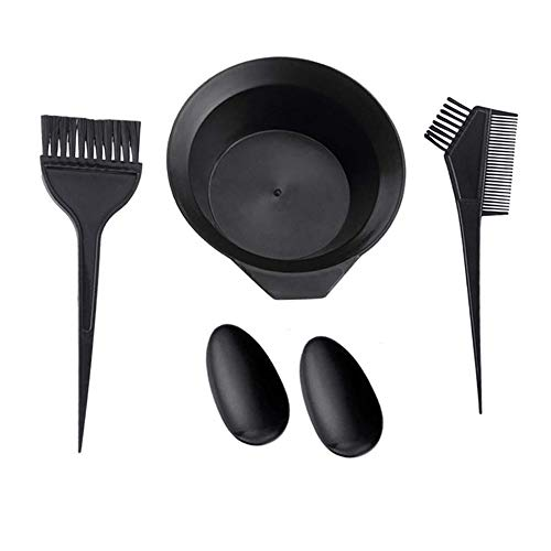 4 Pcs Hair Dye Coloring kit, Hair Tint Dying Coloring Tools Hair Tinting Bowl, Dye Brush & Comb, Ear Cover for DIY Salon Hair Coloring Bleaching Hair Dryers (4pcs)