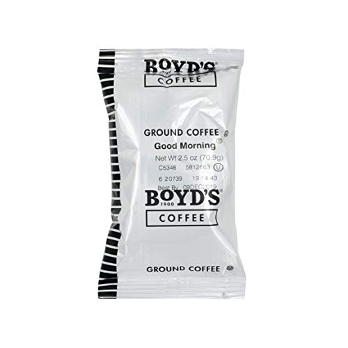 Boyd's Good Morning Coffee - Ground Medium Roast - 2.5-Oz Portion Packs (Pack of 50)