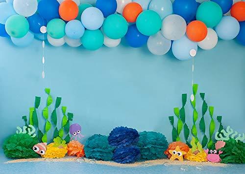 Fondo de fotografía de decoración de Primer cumpleaños para bebés, Fondo de Cabina de Fotos para recién Nacidos para Estudio fotográfico, sesiones fotográficas A2 10x10ft / 3x3m