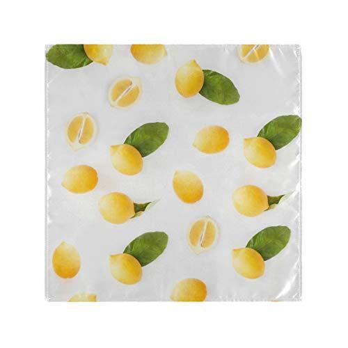 NaiiaN für Familien Bankette Hochzeiten Partys Restaurant Druck Zitronenblätter Obst Süßes Abendessen Meerjungfrau Tischwäsche Servietten 4 Stück