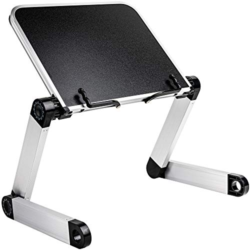 Adjustable Book Stand - Book Stands & Holders for Reading - Ergonomic Textbook Stand for Eye-Level Reading - Book Holder Stand with Clips for Page Holder - Book Holders for Reading Hands Free
