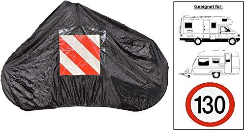 P4B universell 99 9 01 205 Fahrradschutzhülle für bis zu 2 Fahrräder | für Heckträger | 145 x 74 x 123 cm | schwarz