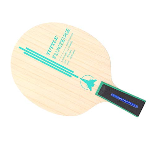 SM SunniMix Gioco di Tennis da Tavolo Pallet di Legno Classici Racchetta Ricreativa per Allenamento Accessori - Manico Corto