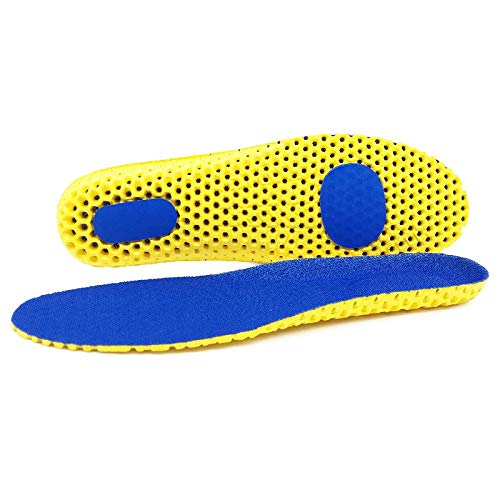 FXJ Plantillas de Espuma de Memoria for Zapatos Sole Malla Desodorante Cojín Transpirable Cojín Posoles for pies Hombre Mujeres Libras ortopédicas (Color : Blue, Shoe Size : 25cm EU35 38)
