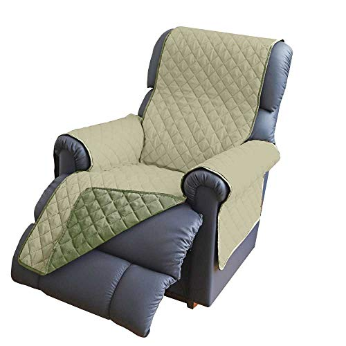 Reversible Water Repellent Furniture Protector | Protects from Spills, Stains, Dirt, Scuffs and Pet Hair | Recliner in Sage/Olive