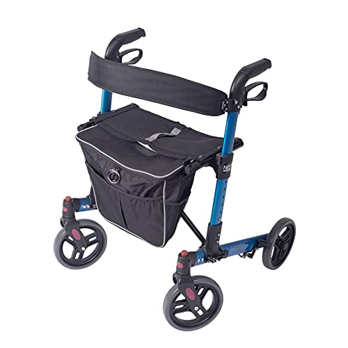 NRS Healthcare Compact Easy Lightweight Folding 4 Wheeled Rollator Walking...
