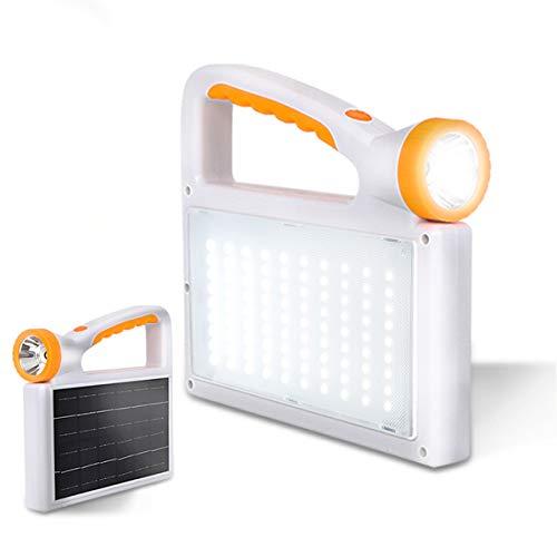 Solares Campinglampe, massway Camping Laterne LED Handscheinwerfer Arbeitsleuchte mit 15000mAh Aufladbar Powerbank, Taschenlampe, Notlicht mit 3 Lichtmodi, für Camping, Zelt, Angeln, Notfall usw