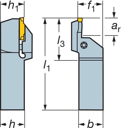 Sandvik Coromant LF123L28-2525B-075BM CoroCut 1-2 schacht gereedschap voor het groeven van het gezicht