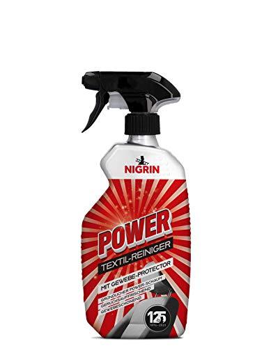 NIGRIN POWER Textil-Reiniger für Auto Innenraum, mit Gewebe-Protector, reinigt gründlich, geruchsauffrischend, 500 ml