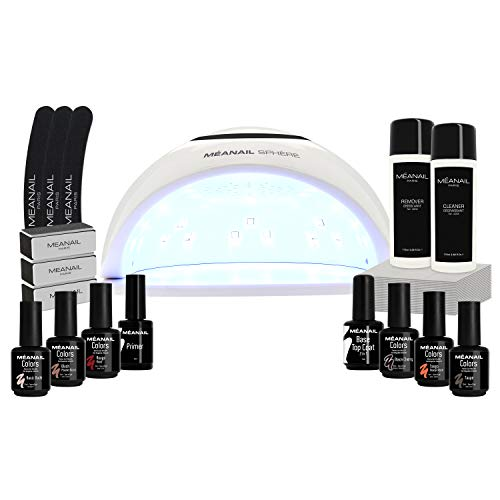 Kit Manicura Semipermanente, Secador de Uñas Lampara LED UV