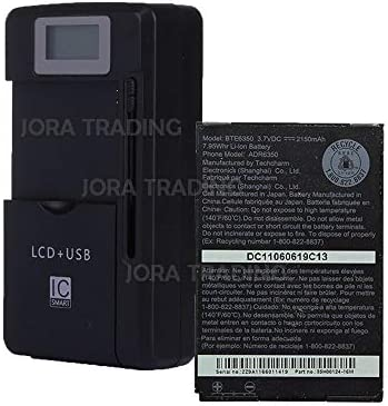 OEM Battery BTE6350 for HTC Droid Incredible 2 HTC Freestyle w Universal LCD Battery Charger product image