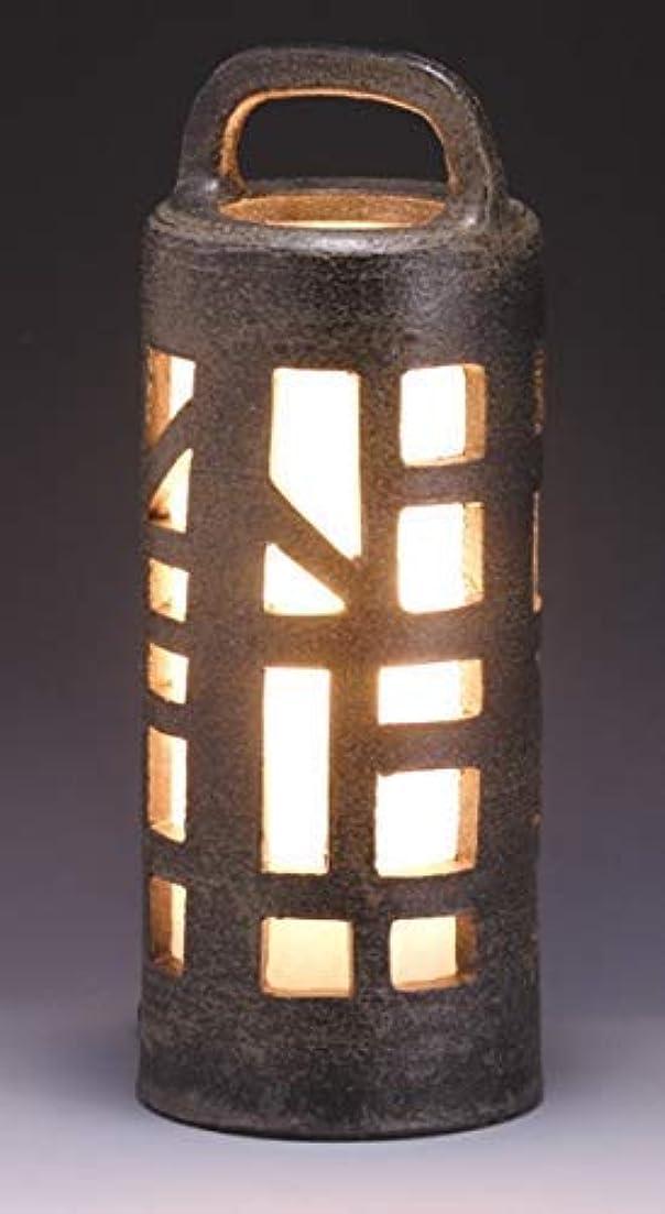 ゴルフもろいトラフ信楽焼ガーデンライト?水面のあかり?直径17.5cm×高さ43cm屋外用 防雨型 和風ライト 日本製