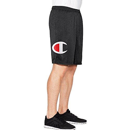 Pantalones cortos para hombre, de la marca Champion, diseño con rejilla y bolsillos Black C Lo...