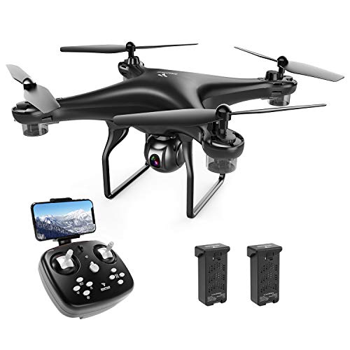 SNAPTAIN SP600 WiFi FPV Drone with Camera for Adults/Beginners, RC Quadcopter w/ 720P HD Camera, Voice Control, Gesture Control, Gravity Control, Altitude Hold, Headless Mode, One Key Take Off/Landing