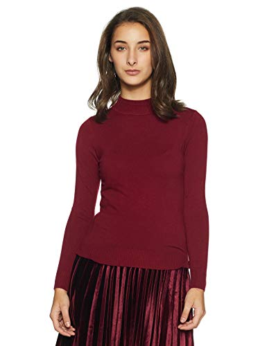 Qube By Fort Collins Women's Sweater (CH102_Wine_L)