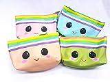 takestop Bolso Pochette caritas Emoji Monedero portaobjetos Monedas Documentos Smartphone con Cremallera, Color AL Azar
