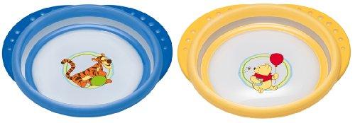 NUK 10255093 Disney Easy Learning Esslern-Teller mit Deckel, Anti-Rutsch-Griffe, rutschfester Boden, BPA-frei