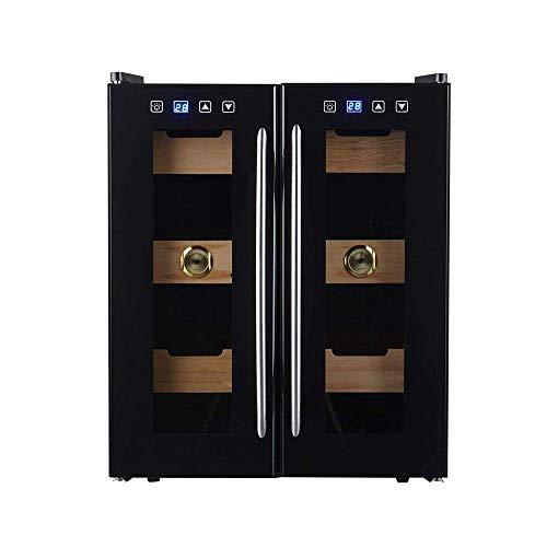 Mini Two-Zone Built-in Freestanding Stainless Steel Wine Cabinet, 24 Bottles Freestanding Wine Cabinet Refrigerator, Glass Door Quiet,energy saving
