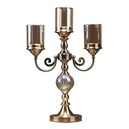 qddan Titular de la Vela de la Vela de la Vela de 3 armados candelabros del candelero de Las candelabros de la decoración del hogar de la Navidad de la Boda Regalos