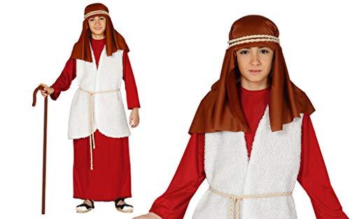 GUIRMA Disfraz de Pastor niño Rojo recita la Natividad Viviente