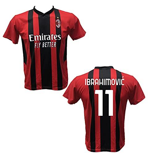 DND Di D'Andolfo Ciro Maglia Calcio Zlatan Ibrahimovic 11 A.C. Milan Replica autorizzata 2021-2022 Taglie da Bambino e Adulto (M (Adulto))