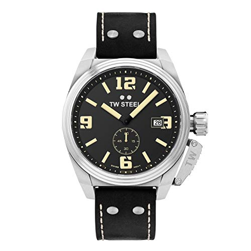 TW Steel Reloj Analógico para Mujer de con Correa en Cuero TW1001