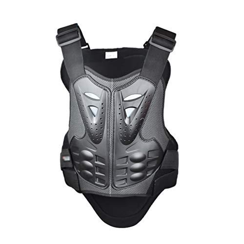 Dexinx Rennsport Brustpanzer Leicht Schutzausrüstung Atmungsaktiv Motorrad WesteSkifahren Anti-Fall Gear Schwarz L