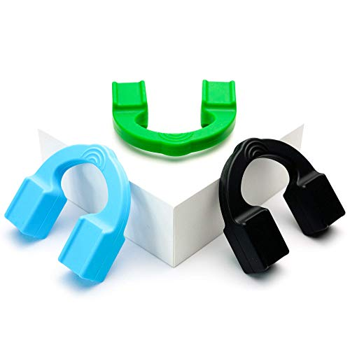 Ejercitador de mandíbula de Tilcare - Para hombres y mujeres, para la mandíbula, el cuello y cara - Tonificador facial de mandíbula para mejorar la línea de la mandíbula - 3-Pack 18, 23, 32 kg