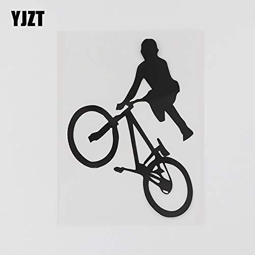 JYHW 8.6CMX12.7CM diversión BMX Bicicleta niños Pegatina Vinilo Coche Negro/Plata 8A-0814 Silver