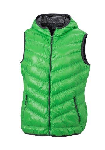 James & Nicholson Damen Jacke Weste Ladies' Vest grün (green/carbon) Large