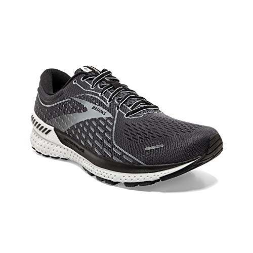 Brooks Men's Adrenaline GTS 21, Grey/Black, 10.5 Medium