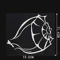 LGLGXR 13.6cmx11.4cm個人性海洋生物ビニールコングカーステッカーデカール (Color Name : Silver)