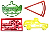 PIZZA PLANET TOY STORY LITTLE GREEN MEN ALIEN THE CLAW GAME SPACESHIP TRUCK SIGN LOGO PIZZA SLICE SET OF 4 SPECIAL OCCASION COOKIE CUTTER BAKING TOOL 3D PRINTED MADE IN USA PR1179