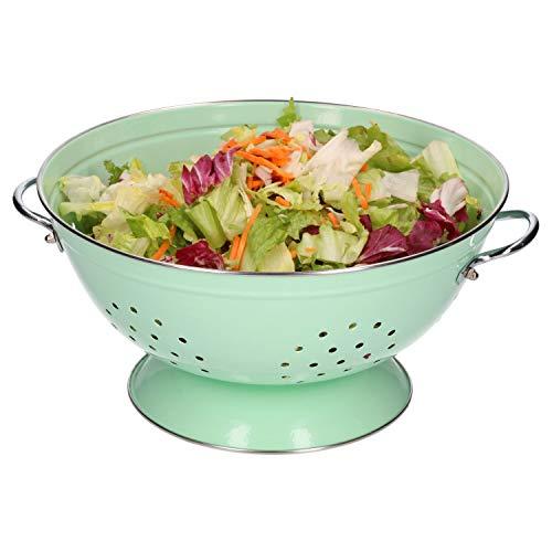 HiT | Seiher groß | Ø 280 mm | Koch-Sieb | Nudelsieb | Küchen-Zubehör | 4 Farben, Farbe:mintgrün