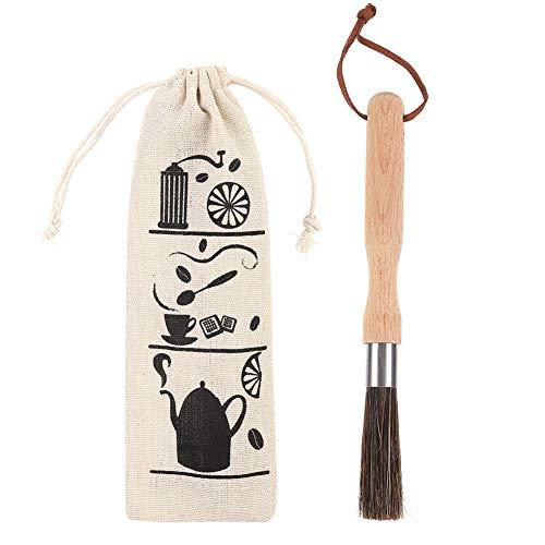 Koffiemolen, poederreinigingsborstel met houten handvat, espressomachine/machine-reiniger, gereedschap voor bonenkorren, koffiegereedschap Barista Home Kitchen