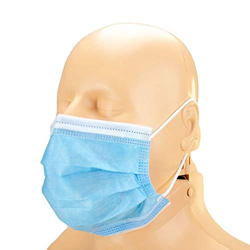 Infimedix Medizinische Mundschutz-Maske, Chirurgische Maske, 3-lagig, 50 Stück mit Gummischlaufen - Typ II, Deutsche Verpackung, Medizinprodukt EN14683