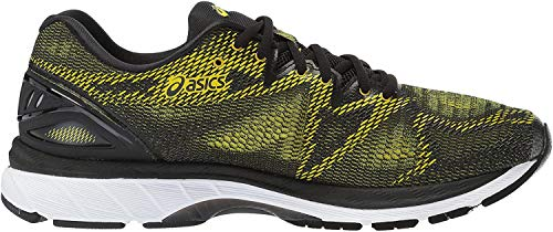 ASICS Men's Gel-Nimbus 20 Running Shoe, Sulphur Spring/Black/White, 6 Medium US