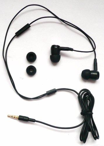 Emartbuy ® Premium Range Extra Bass Black In Ear Stereo Freisprecheinrichtung Headset Mit Mikrofon Für Sony Xperia Acro