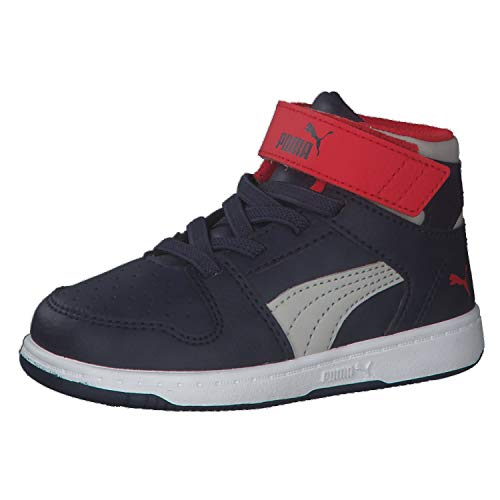 Puma Kinder Sneaker Rebound Layup SL V Inf 370489 Peacoat-Gray Violet-High Risk Red-Puma White 24