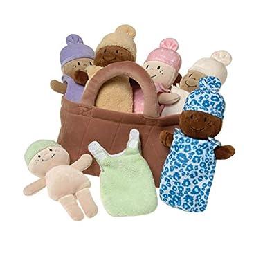 Basket of Babies Creative Minds Plush Dolls, Soft Baby Dolls Set, 6 Piece Set for All Ages