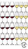 Collezione DIVINO Bormioli Rocco - Set 24 Calici Vino - N° 12 Divino Rosso 53 cl + N° 12 Divino Bianco 44 cl Eleganza a Tavola