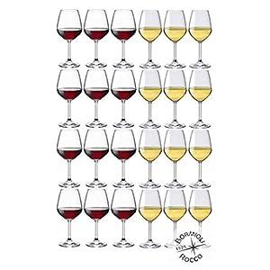 Collezione DIVINO Bormioli Rocco - Set 24 Calici Vino - N° 12 Divino Rosso 53 cl + N° 12 Divino Bianco 44 cl Eleganza a… 4