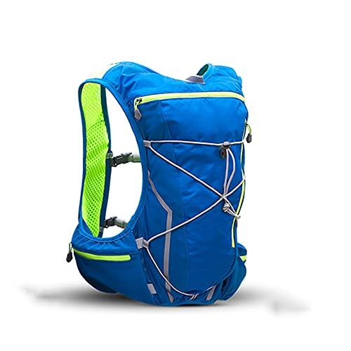 FLZXSQC Paquete De Mochila De Hidratación, Mochila para Trail Running, Ligero, Chaleco para Bolsa De Agua De Maratón, Mochila para Deportes Al Aire Libre para Correr, 10 L,Azul,M/L Code