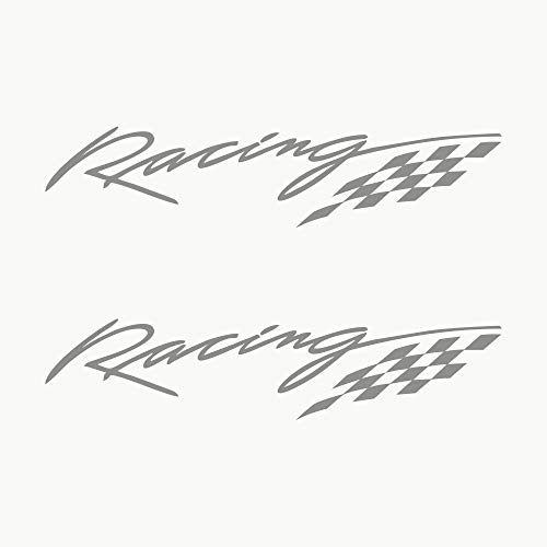 Autodomy Racing Sport Tuning JDM OEM Aufkleber Paket 2 Stück für Auto (Silber)