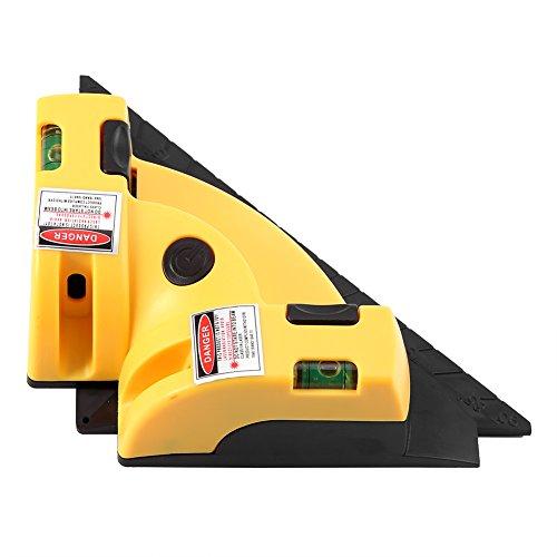 Nivel láser - Línea de láser horizontal vertical de 90 grados en ángulo recto, herramienta de diseño de alineación de nivel de proyección