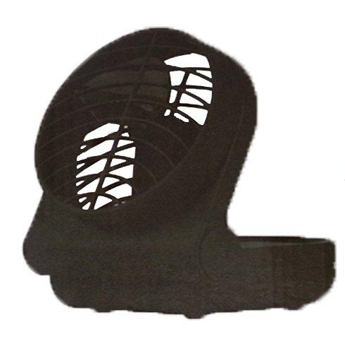 Draagbare ventilator met klapfunctie, 12,5 cm, zwart, op batterijen, inklapbaar, zwenkbaar, camping, koeler, lucht-verfrisser, ventilatie