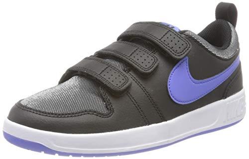 Nike Pico 5 Glitter (GS), Zapatillas Unisex Adulto, Negro Zafiro Blanco, 38 EU