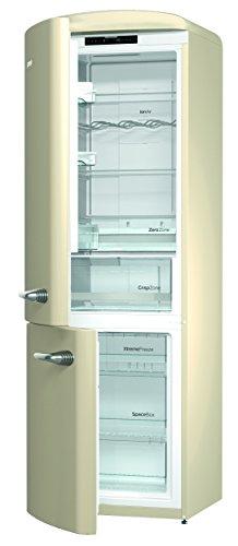 Gorenje ONRK 193 C-L Réfrigérateur congélateur/A + + + / Hauteur 194 cm/Réfrigérateur : 222 L/Congélateur : 80 L/Beige/NoFrost/Tiroir ZeroZone (0 degrés) / Oldtimer/Collection Retro