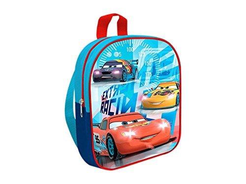 41VR3knCYqL - Cars - Peluche coche rojo Rayo McQueen 24cm Calidad super soft + Mochila guardería 24 cm